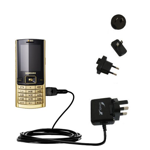 10W Gomadic Steckdosen-Ladegerät AC kompatibel mit Samsung SGH-D780 DUOS mit Energiesparmodus und TipExchange