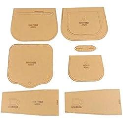 Plantilla de acrílico, conjunto de plantillas de plantilla de acrílico artesanal para tarjetas de bricolaje Herramientas de artesanía de cuero para cualquier bricolaje personal o profesional(#2)
