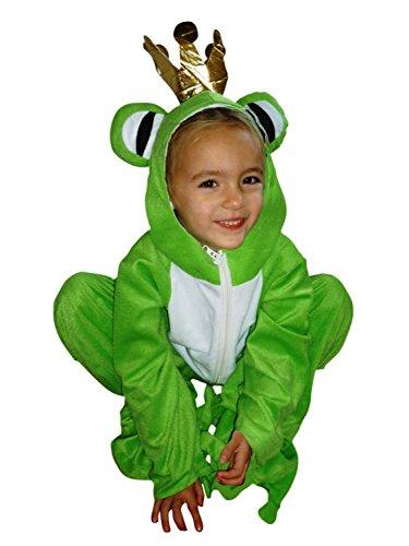 Frosch-König Kostüm, Sy12 Gr. 122-128, für Kinder, Froschkönig-Kostüme Frösche für Fasching Karneval, Klein-Kinder Karnevalskostüme, Kinder-Faschingskostüme, Geburtstags-Geschenk ()