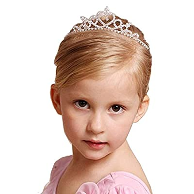 Futurekart Silver Pageant Prom Crystal Crown Tiara for Girls