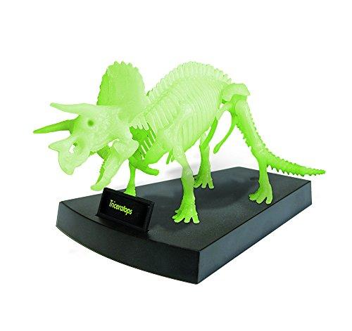 Geoworld cl140k - jurassic night triceratopo scheletro