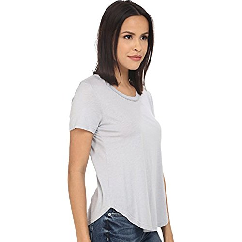 Splendid Women's Very Light Jersey Scoop Tee Dove Grey T-Shirt LG (Women's 10-12) - Lg Scoop