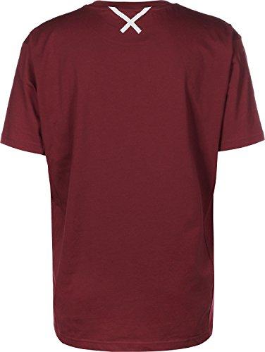 adidas XBYO SS T-Shirt weinrot rot
