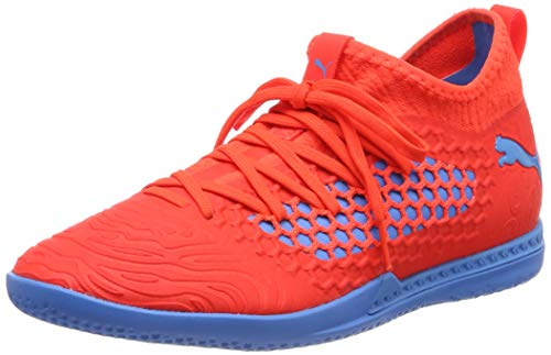 Puma Herren Future 19.3 Netfit IT Multisport Indoor Schuhe, Rot (Red Blast-Bleu Azur), 42 EU - Herren Indoor Court Schuhe
