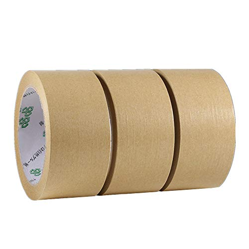 Melodycp Klebeband für Packungen und Boxen Verpackungsklebeband aus recycelten Materialien 24 mm × 30 mm, 3 Stück 60mm×30m