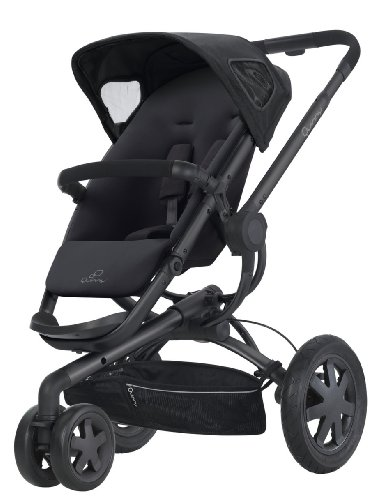 Imagen principal de Buzz 3 - Silla de paseo con cesta, capota, protector para la lluvia y adaptador para capazo Quinny Dreami o MaxiCosi (3 ruedas), armazón y asiento color negro