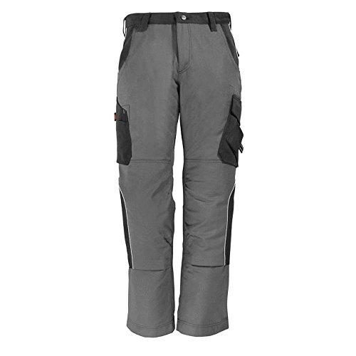 FHB Premium Bundhose Twill 300, 1 Stück, 62, grau / schwarz, 35-130430-1120-62