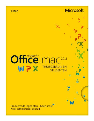 MS Office Mac Home Student 2011 Dutch Eurozone Med