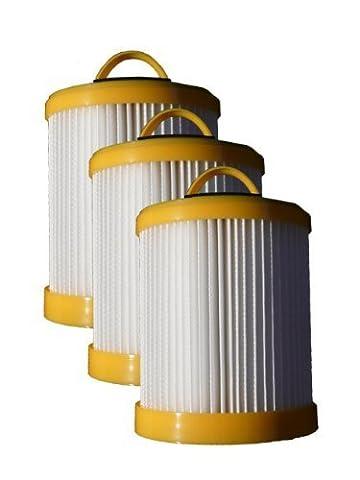 (3) Eureka Series 5700 5800 Pleated Dust Cup Lite Speed Type DCF 3 Hepa Bagless Upright Vacuum, Litespeed Whirlwind, Sanitaire, 922 62136, 61830A, 61825 by