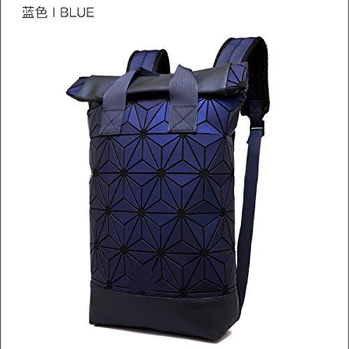 Generic Große Kapazität Nylon Rucksack Raute Mode Schultasche Outdoor-Rucksack Wasserdicht Atmungsaktiv Anti-Diebstahl-Verschleißfesten Lastreduzierung Schock