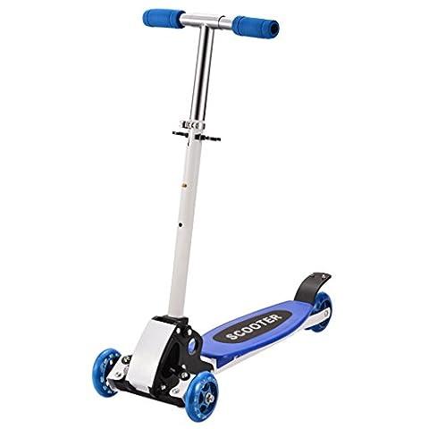 Tomasa Kinder Scooter Roller 66.5 x 13.5cm Höhenverstellbare Faltbare Tretroller