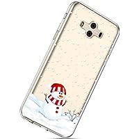Handytasche Huawei Mate 10 Crystal Clear Ultra Dünn Durchsichtige Silikon Schutzhülle Weiche TPU Schutzhülle Silikon Dünn Case Kirstall Transparent Handyhüllen,Schneemann
