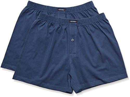 Unterwäsche Hosen (Ceceba Herren Boxershorts Shorts, 2er Pack, Einfarbig, Blau (midnight blue 6979) ,8X-Large  (Herstellergröße:18))