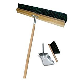 Dustpan and Brush Set Brush Shovel Rake Spade Gatren Sweeping Sweep Arenga Elaston