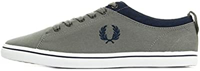 Fred Perry Hallam Twill Falcon Grey Carbon Blue B8272D19, Deportivas