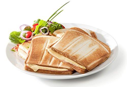 41iYGjrqofL - Domo DO9064C Sandwich Maker, 1800 W, White