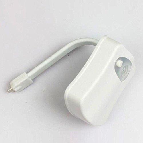Zymt luce colorata led luce notturna sensore di movimento wc automatico a sospensione luce rotante a colori accessori per il bagno a batteria