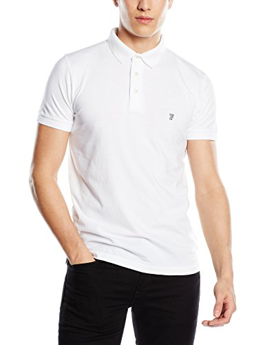 french-connection-polo-col-chemise-classique-manches-courtes-homme-blanc-medium