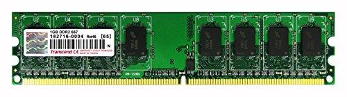 Transcend TS128MLQ64V6U - Memoria principal (1 GB, DDR2 SDRAM, 667 MHz, DIMM...