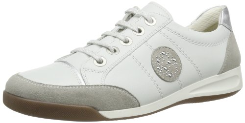 ara - Rom, Sneakers donna, color Grigio (kiesel,weiss/silber 06), talla 37