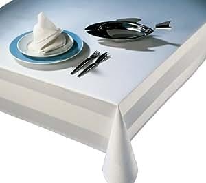 Tischdecke 130x190 cm weiß Damast Tischwäsche