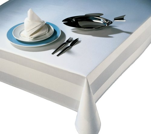 Nappe de damas édition Gastro carré blanc 130 x 280 130 x 280 avec bord atlas Taille au choix Linge de table damassé, Serviette, Chemin de table de decohom Ete xtil