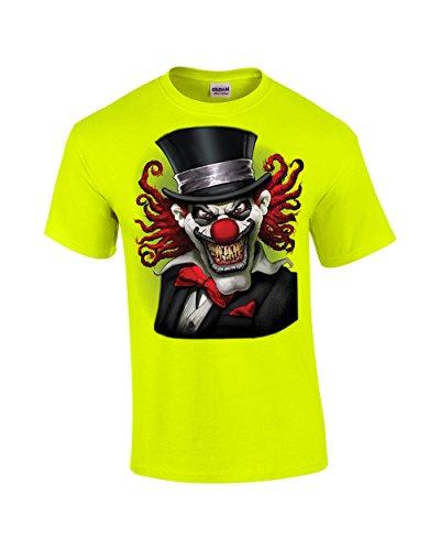 Clown pazzo da Clown, maglietta e cappello, colore: bianco