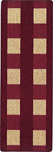 andiamo, Teppich Flachgewebe Dalia, 67 x 200 cm, rot, strapazierfähig, schadstofffrei