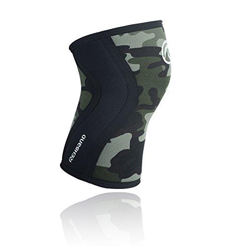 Rehband Kniebandage Neopren 5 mm, Camouflage, L, 7751X-12-4 -
