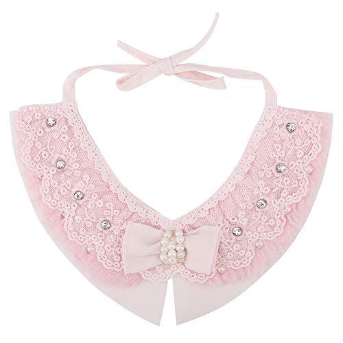 Qiterr Pet Bowknot Tie, Cat Dog Krawatten Puppy Fake Collar Bowknot Bow Tie Haustiere Neck Zubehör Pink - Fake-krawatte