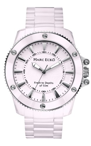 Marc Ecko - E50025G1 - Montre Mixte - Quartz Analogique - Bracelet Céramique Blanc
