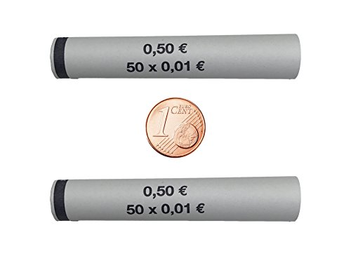 3702 MÜNZHÜLSEN - Münzrollenpapier vorgefertigt für 1 Cent (88er Pack)A