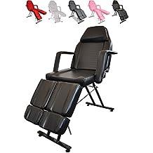 Polironeshop Giove - Camilla, sillón y silla fija profesional multifunción y económica, adecuada para masajes, tratamientos de estética y fisioterapia, tatuajes, depilación, reconstrucción y decoración de uñas, manicura y pedicura