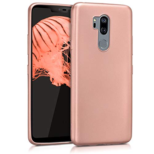 kwmobile LG G7 ThinQ/Fit/One Hülle - Handyhülle für LG G7 ThinQ/Fit/One - Handy Case in Metallic Rosegold