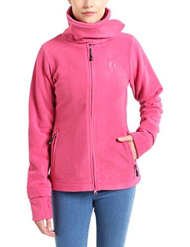 Ultrasport Damen Fleecejacke Marla, pink, L, 10388