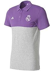adidas SSP Polo Línea Real Madrid CF, Hombre, Morado (Vioray / Brgrin), XS