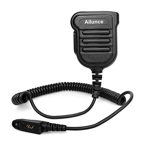Ailunce H103ML Funkgerät Lautsprecher Microphone IP55 Wasserdicht Kompatibel mit Ailunce HD1 DMR Radio Kompatibel mit Retevis RT648 RT87 RT29 RT647 RT83 Walkie Talkies (1 Stk.)