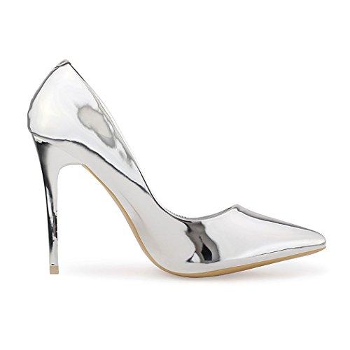 best-boots , Sandales pour femme Argent - Silber Lack
