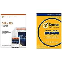 Microsoft Office 365 Home multilingual + Norton Security Deluxe 2019 | 5 Geräte