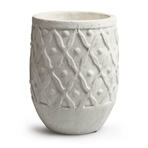 Maceta de cemento blanco VELVET IV