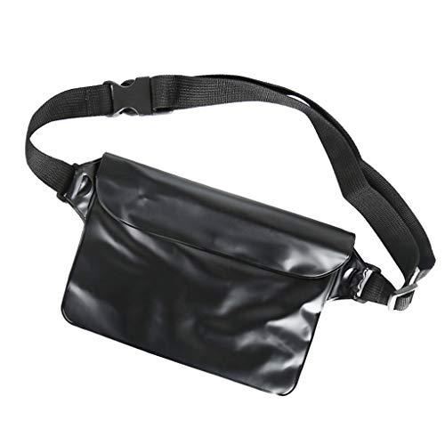 Royalr Unisex wasserdichte PVC Transparent Kleine Sommer-Strand-Tasche Driften Hüfttasche Triple-Sealed-Telefon-Beutel