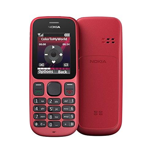 Cellulare Nokia 100 (display da 1,8 pollici, radio), senza blocco Sim, colore rosso corallo
