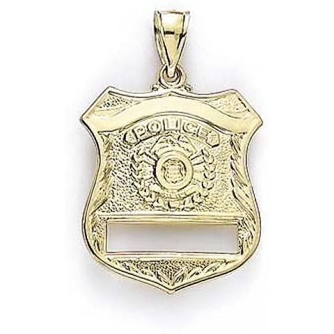 Collana in oro 14 kt, con ciondolo a forma di Bristol Novelty-Distintivo della (Distintivo Della Polizia Pendente)