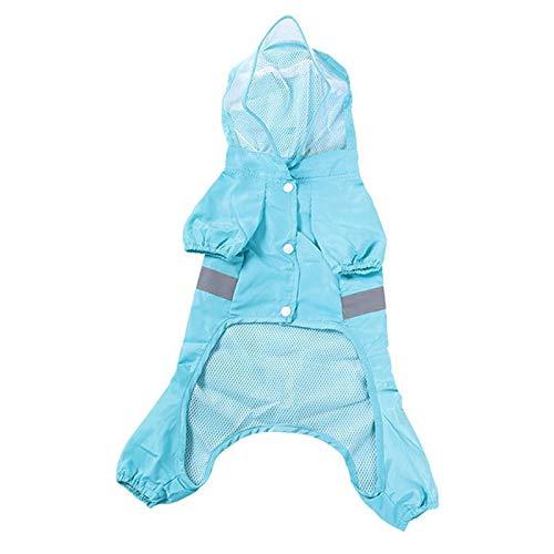 Nrpfell Haustier Hund Regen Mantel Kleidung Franz?Sisch Bulldog Kleidung Hund Regen Jacke wasserdichte Kleidung für Hund Overall Outfit XL