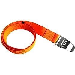 MagiDeal Sangle Ceinture de Plomb 150cm pour Plongée Sous-marine Avec Boucle Libération Rapide, Orange