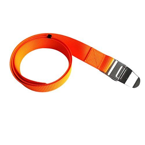 MagiDeal Unisex Tauchen Bleigürtel Quick-Release Tauchgürtel - Orange mit Schnalle