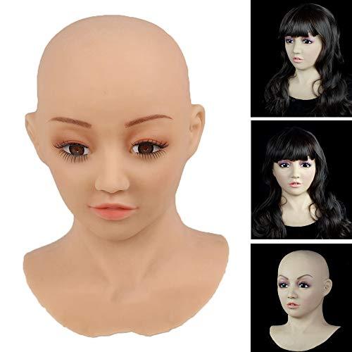 Silikon headset transgender maske realistische maske für transgender shemale rollenspiel crossdresse homosexuell transvestite shemale männer dress