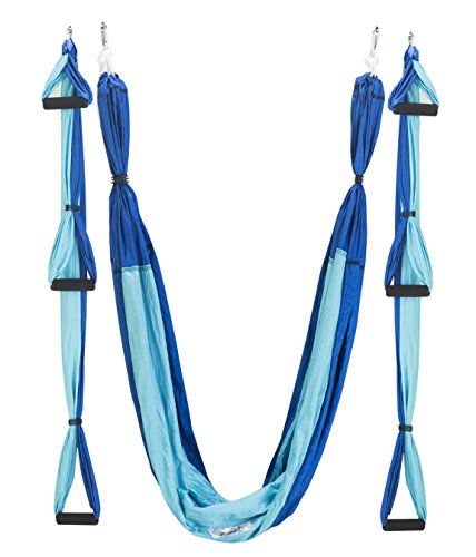 Qubabobo amaca di yoga taffettà di nylon anti-gravità swing sling inversione per pilates ginnastica con carico di 300 kg (250cm x 150cm)