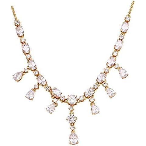 ZWX Altri colori/Collana di diamanti/ Stile europeo/Piantare fiori/ singolo elemento-B