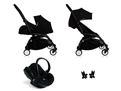 Babyzen Poussette Yoyo+ complète Cadre Noir habillages 0+ et 6+ Noir et siège Auto iZi Go Modular Noir